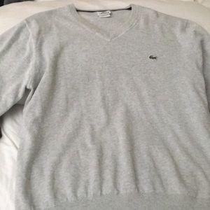 Gray long sleeve sweater